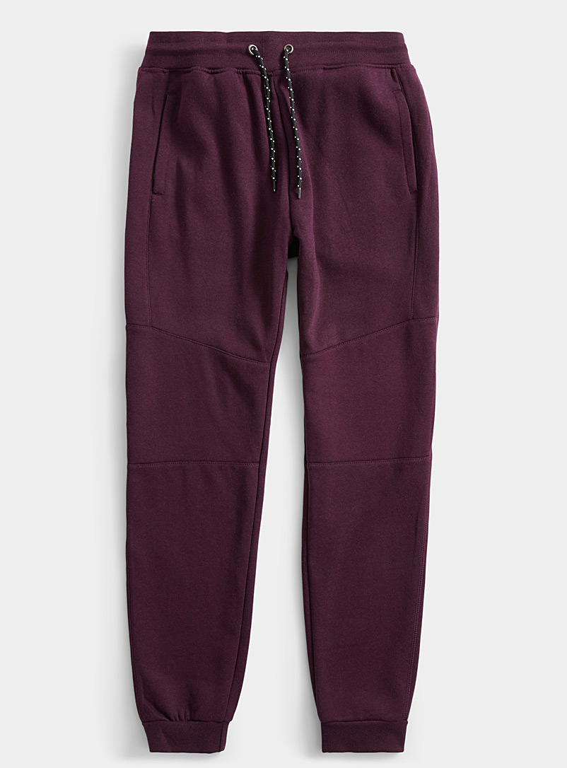 Le 31 Mauve Graphic seam sweat joggers for men