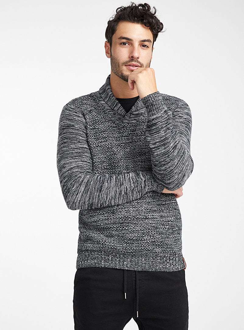 le-pull-col-chale-mailles-mixtes