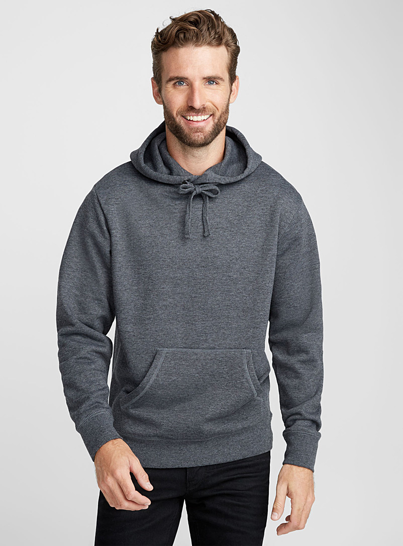 Coloured pouch-pocket hoodie - Sweatshirts & Hoodies - Charcoal