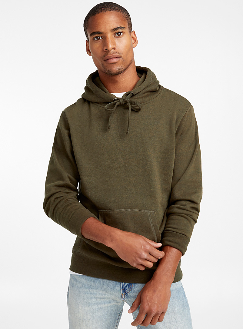 Coloured pouch-pocket hoodie - Sweatshirts & Hoodies - Mossy Green