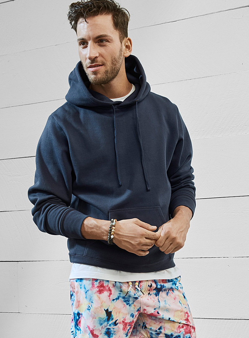 Coloured pouch-pocket hoodie - Sweatshirts & Hoodies - Marine Blue