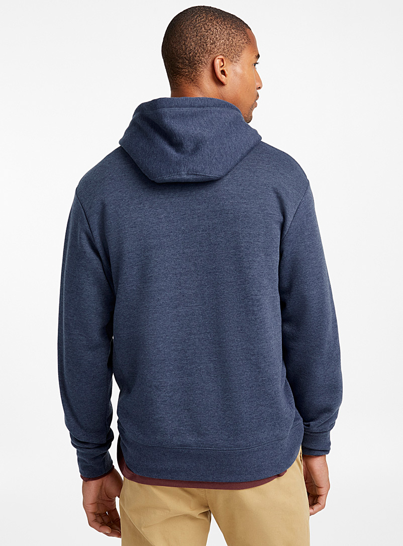 Coloured pouch-pocket hoodie - Sweatshirts & Hoodies - Dark Blue