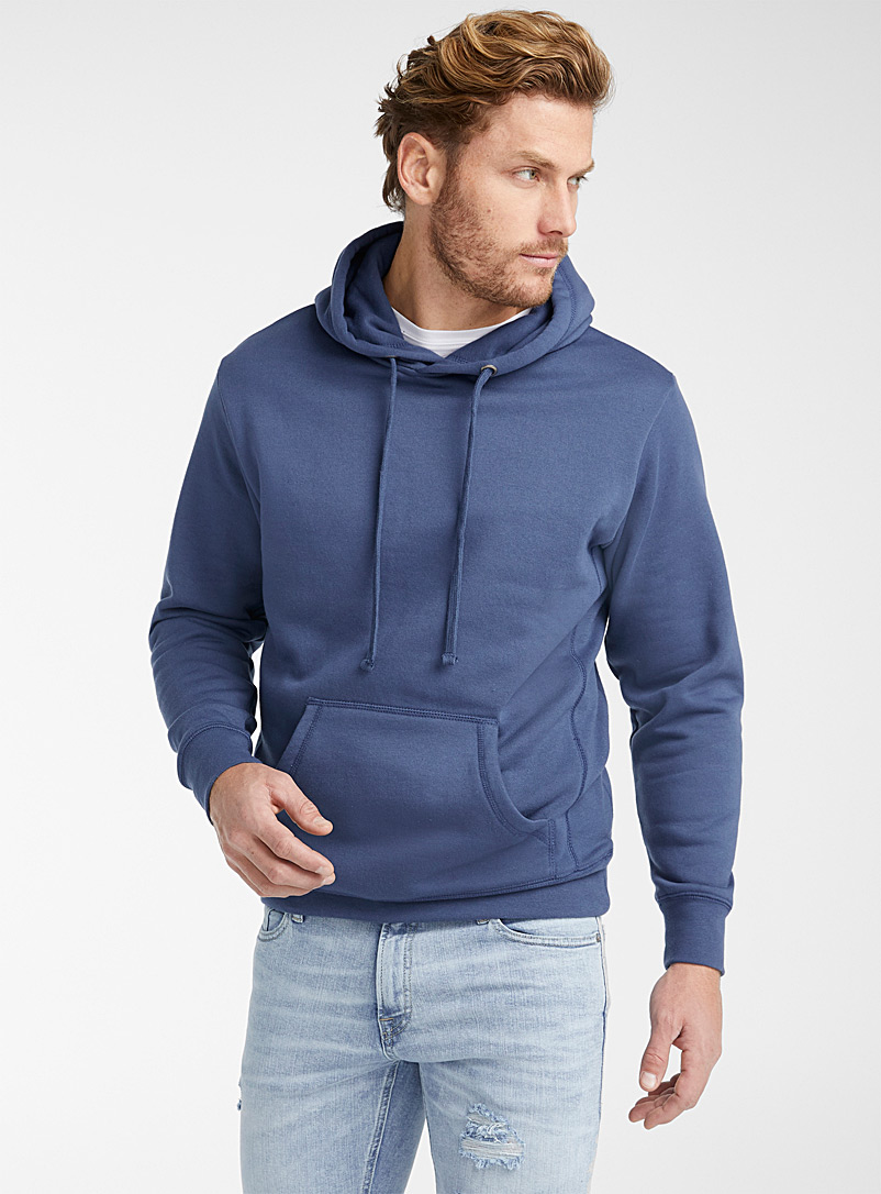 Le 31 Assorted Minimalist pouch-pocket hoodie for men