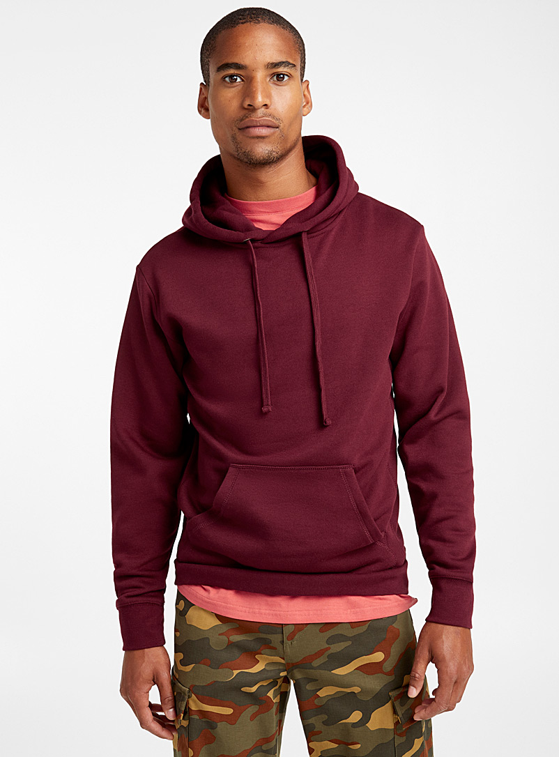 Coloured pouch-pocket hoodie - Sweatshirts & Hoodies - Ruby Red