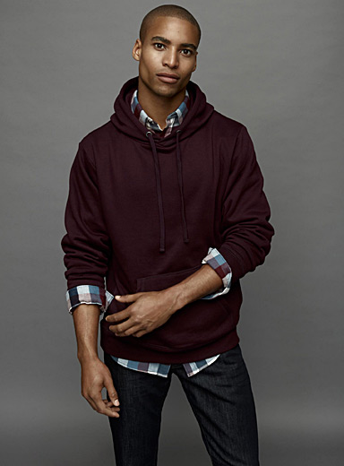 Coloured pouch-pocket hoodie
