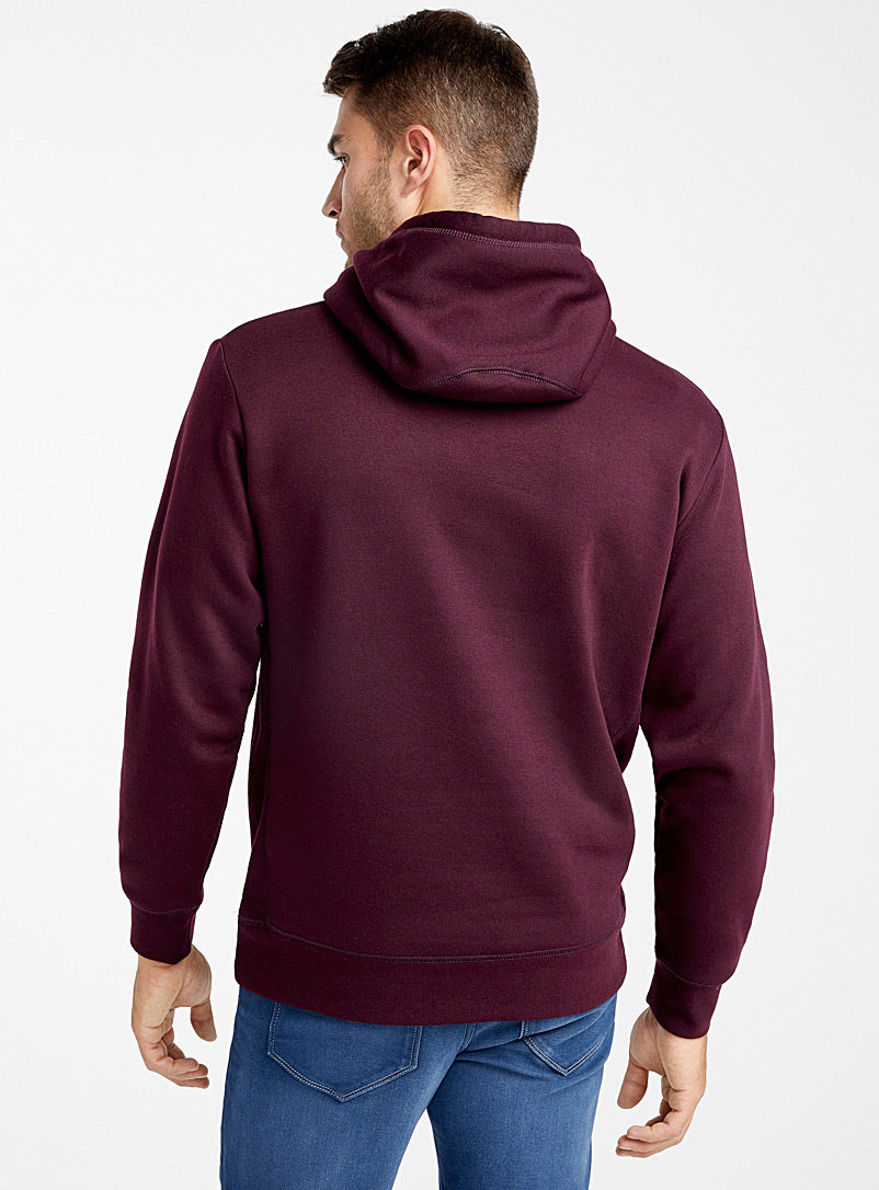 Coloured pouch-pocket hoodie - Sweatshirts & Hoodies - Cherry Red