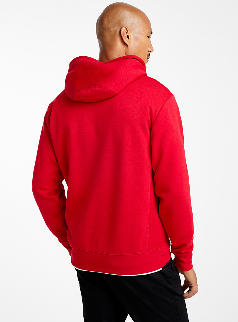 Coloured pouch-pocket hoodie - Sweatshirts & Hoodies - Bright Red