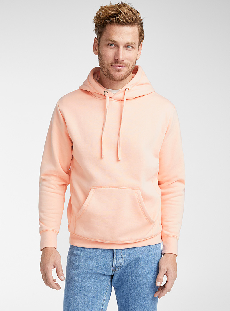 Le 31 Pink Coloured pouch-pocket hoodie for men