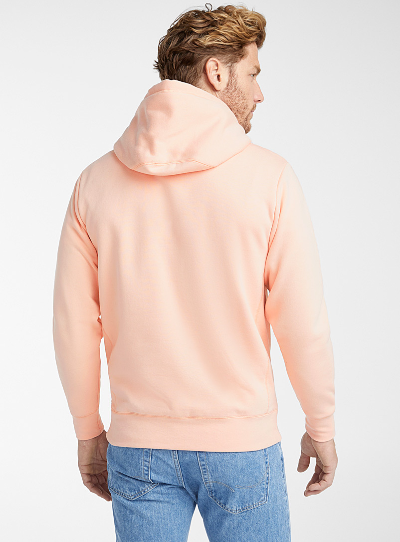 Le 31 Cherry Red Coloured pouch-pocket hoodie for men