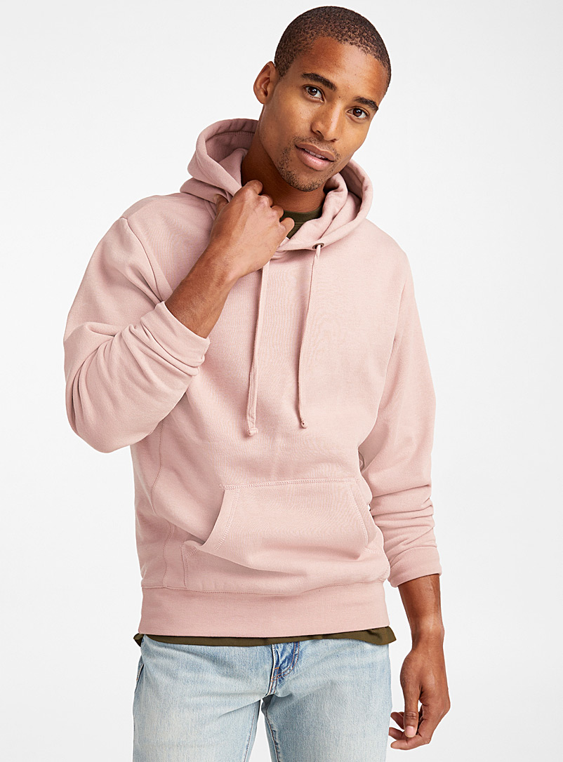 Le 31 Dusky Pink Coloured pouch-pocket hoodie for men