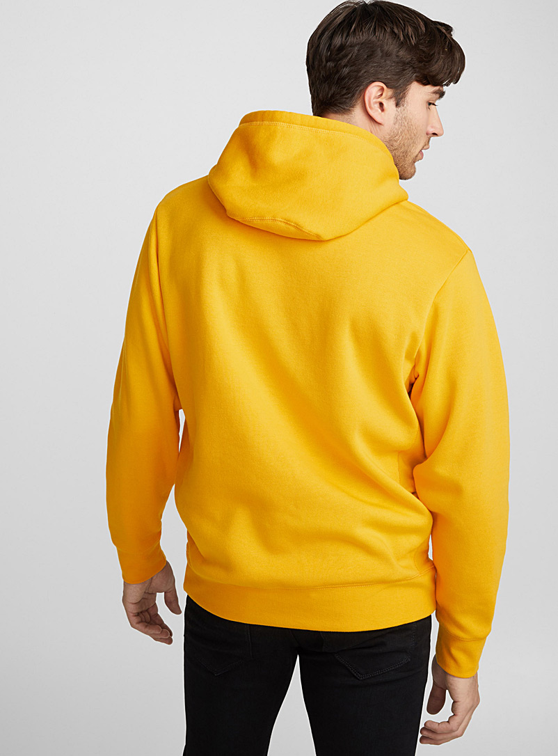 Coloured pouch-pocket hoodie - Sweatshirts & Hoodies - Golden Yellow
