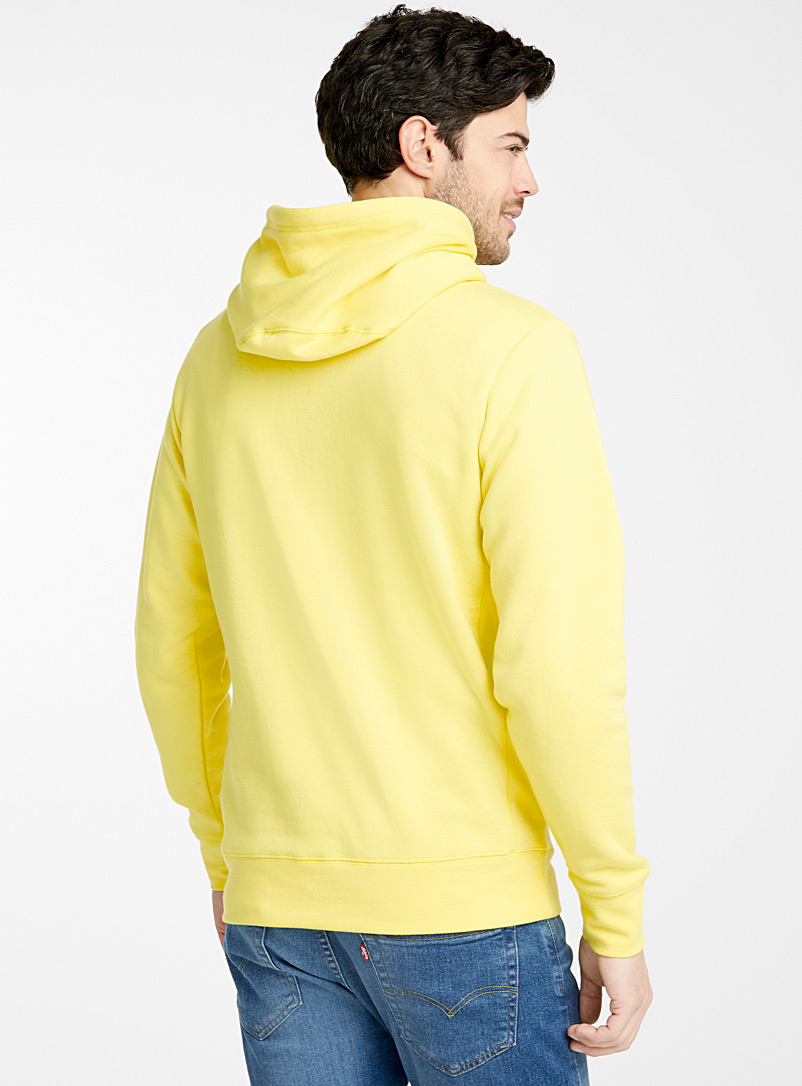Coloured pouch-pocket hoodie - Sweatshirts & Hoodies - Bright Yellow