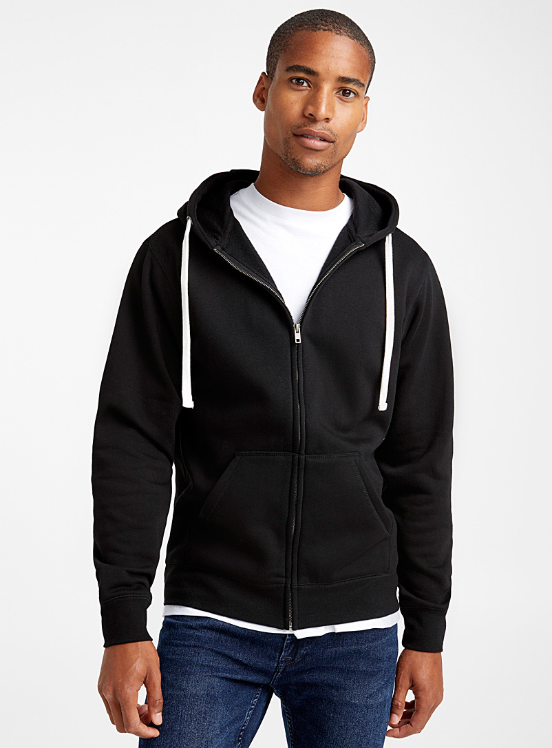 Le 31 Black Zip hoodie for men