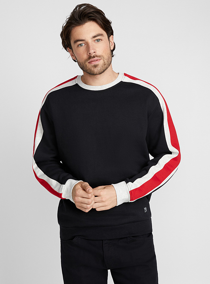 Athletic sleeve sweatshirt - Sweatshirts & Hoodies - Black