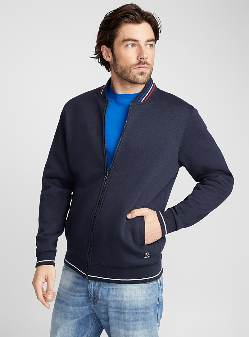 Sporty sweatshirt jacket - Sweatshirts & Hoodies - Marine Blue