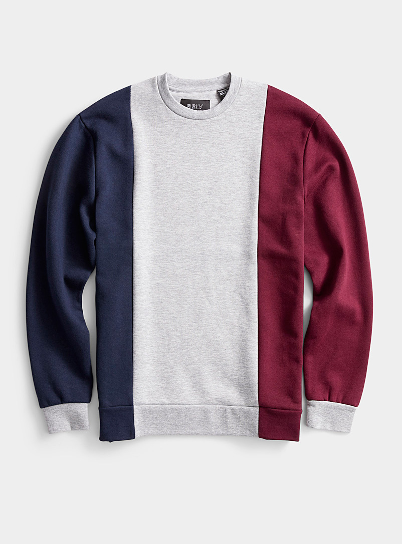 Tricolour graphic sweatshirt