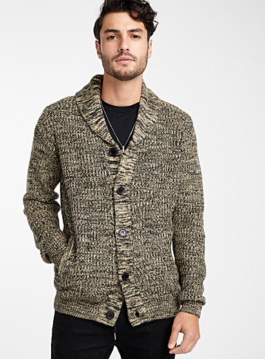 Shawl collar heather cardigan
