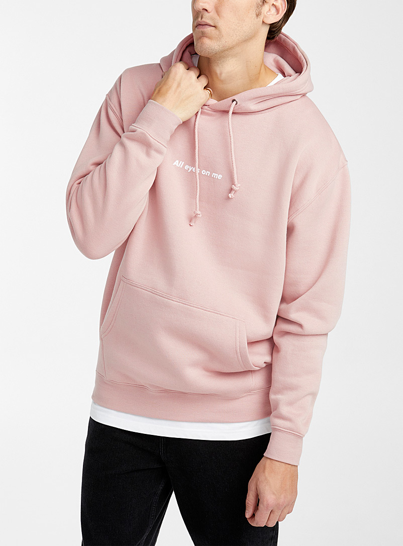 Djab Pink Typeset message hoodie for men