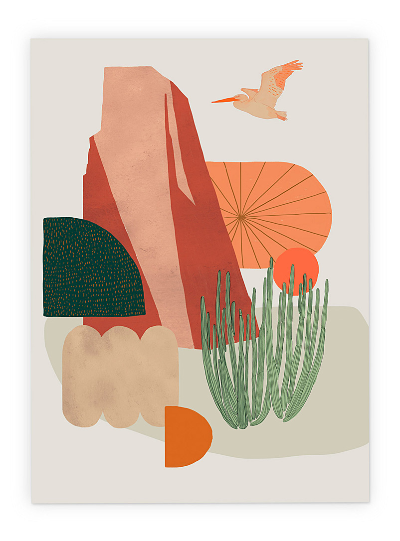California Duo poster  2 sizes available - Baltic Club - Orange