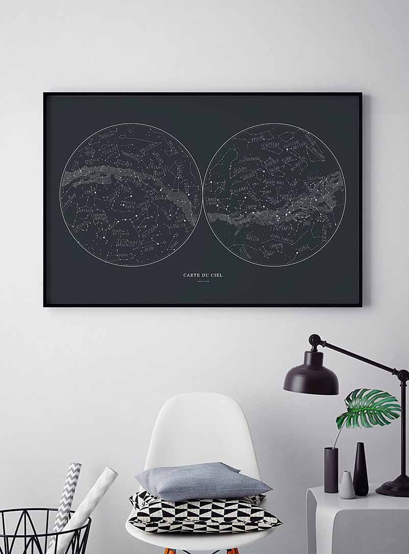 Sky map art print  2 sizes available