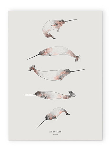 Narwhals poster  2 sizes available