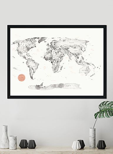 Map of the World on cork poster