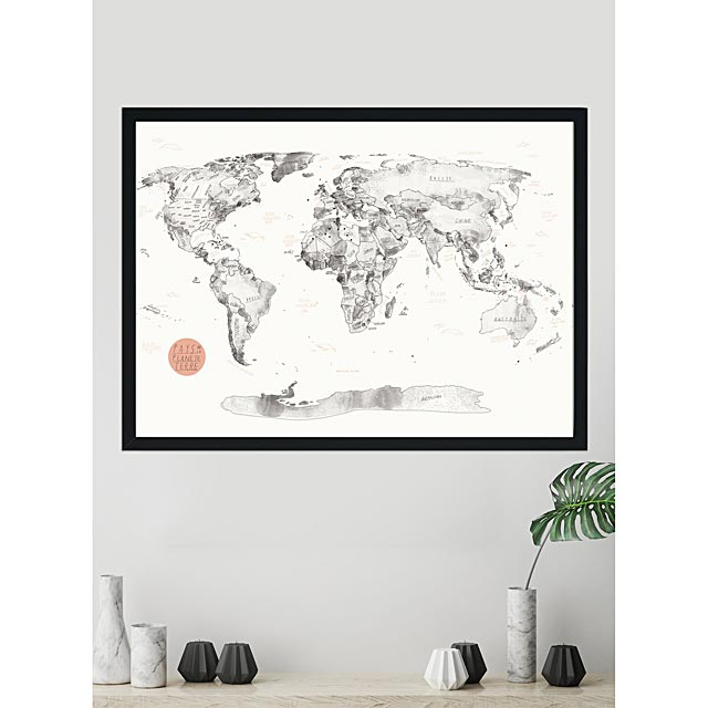 world-map-cork-art-print-3-sizes-available