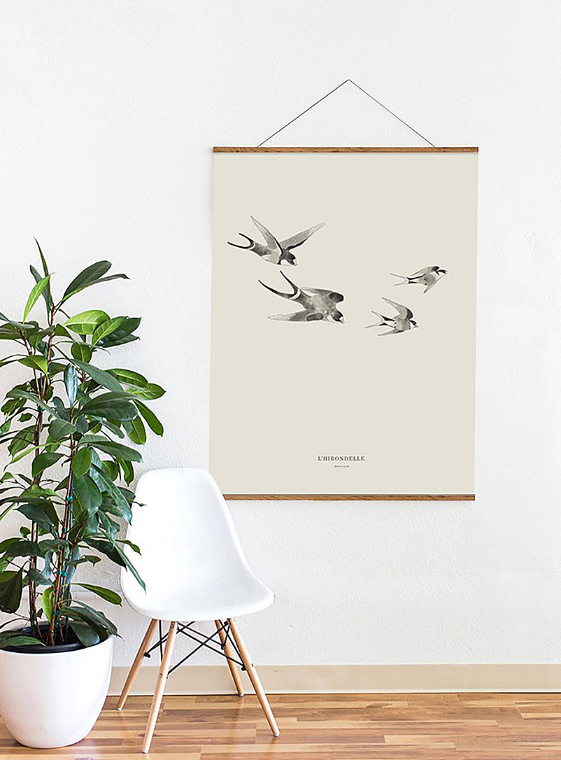 Baltic Club White Swallow art print