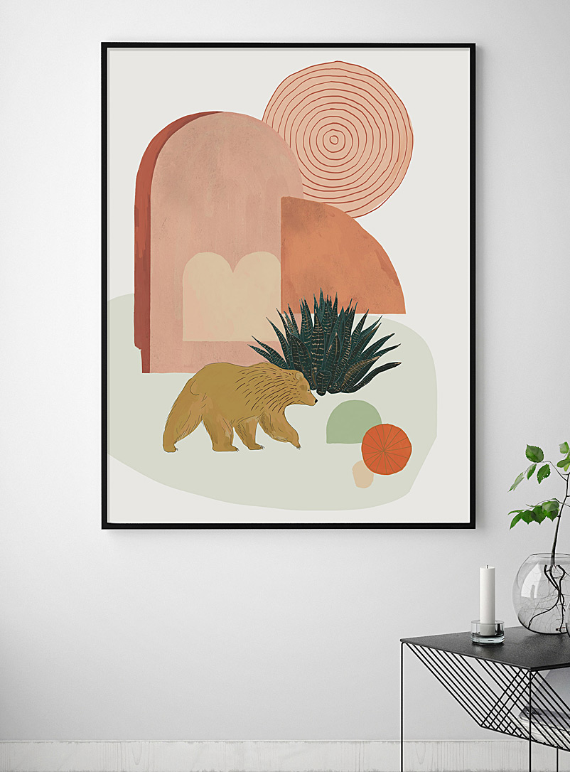 Baltic Club: L'affiche Ours de Californie  2 formats disponibles Orange