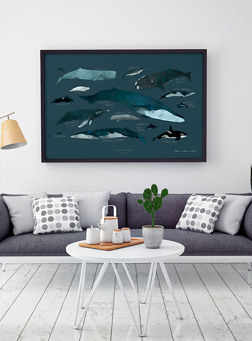 Whale art print  2 sizes available