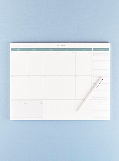 Baltic Club Green Vintage coloured weekly planner