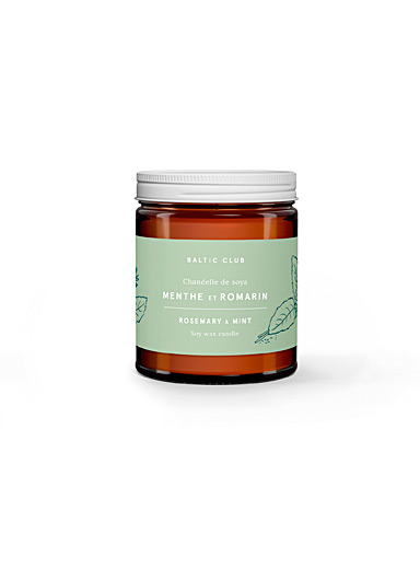 Baltic Club Rosemary & Mint Infused by nature scented soy candle  8 fragrances available