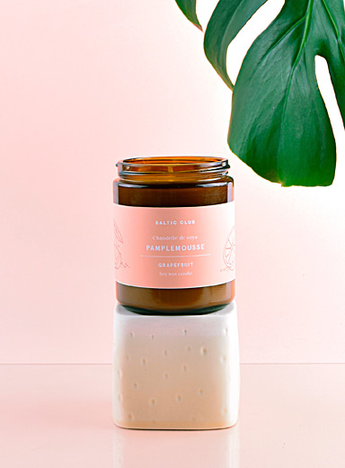 Baltic Club Grapefruit Infused by nature scented soy candle  8 fragrances available