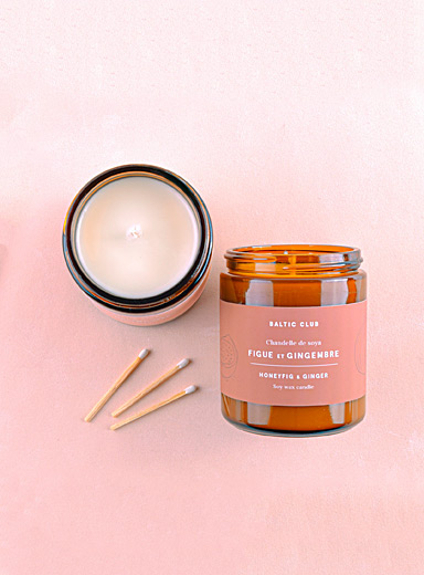 Baltic Club Honey Fig & Ginger Infused by nature scented soy candle  8 fragrances available