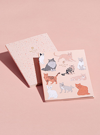 Set of cats and terrazzo notebooks