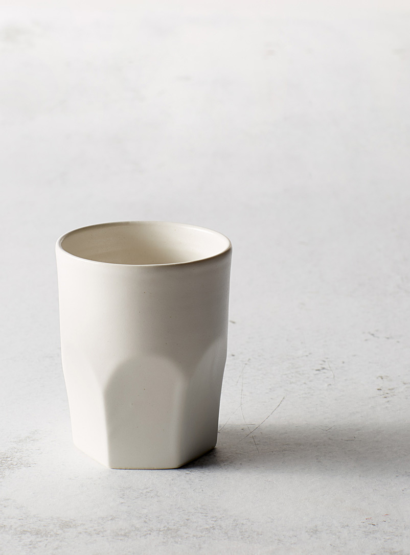 A + J Métissage White Ceramic tumbler 7 oz.