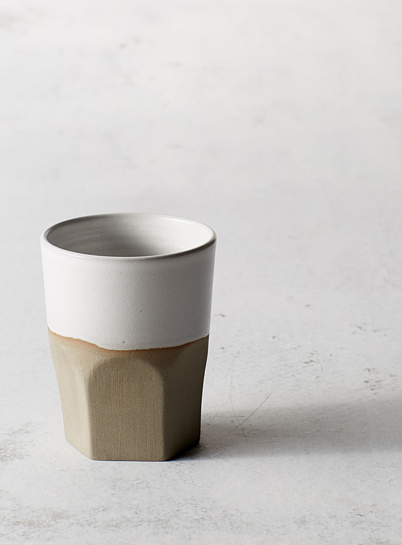 A + J Métissage Grey Ceramic tumbler 7 oz.