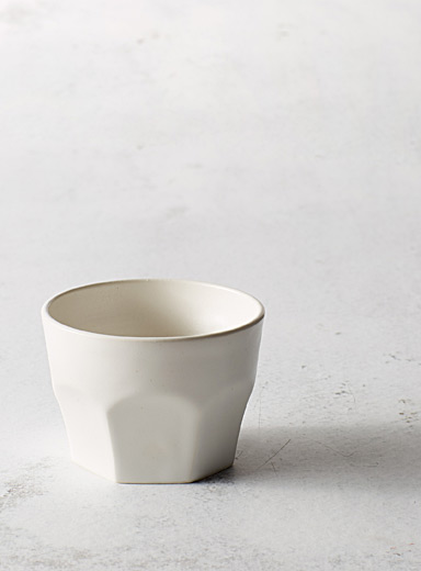A + J Métissage White Ceramic tumbler 8 oz.