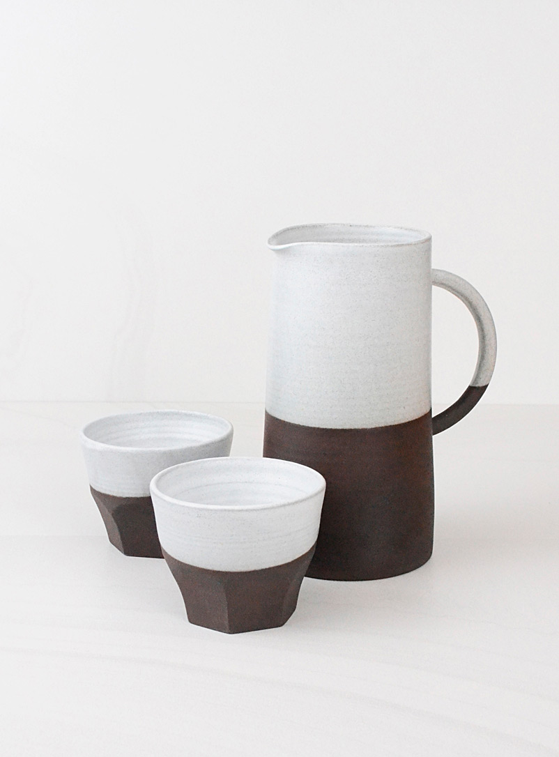 A + J Métissage Assorted Ceramic pitcher and tumbler set