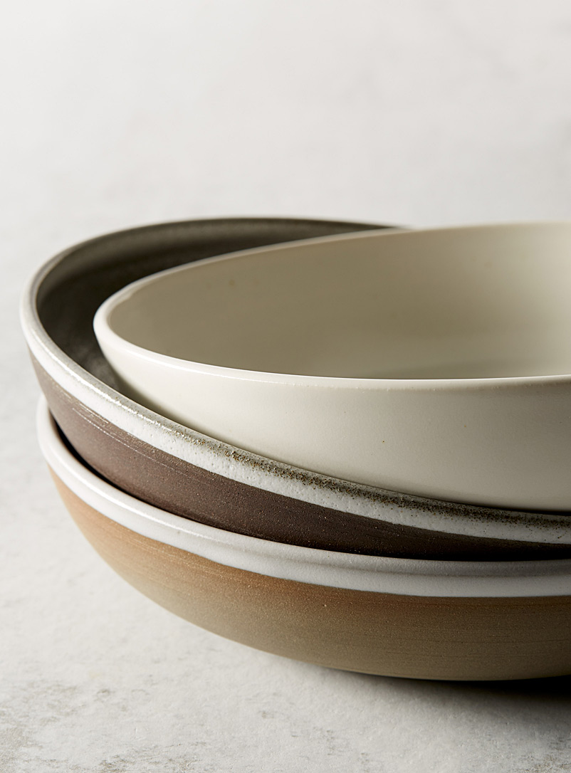 Ceramic dinner bowl - A+J Métissage - White