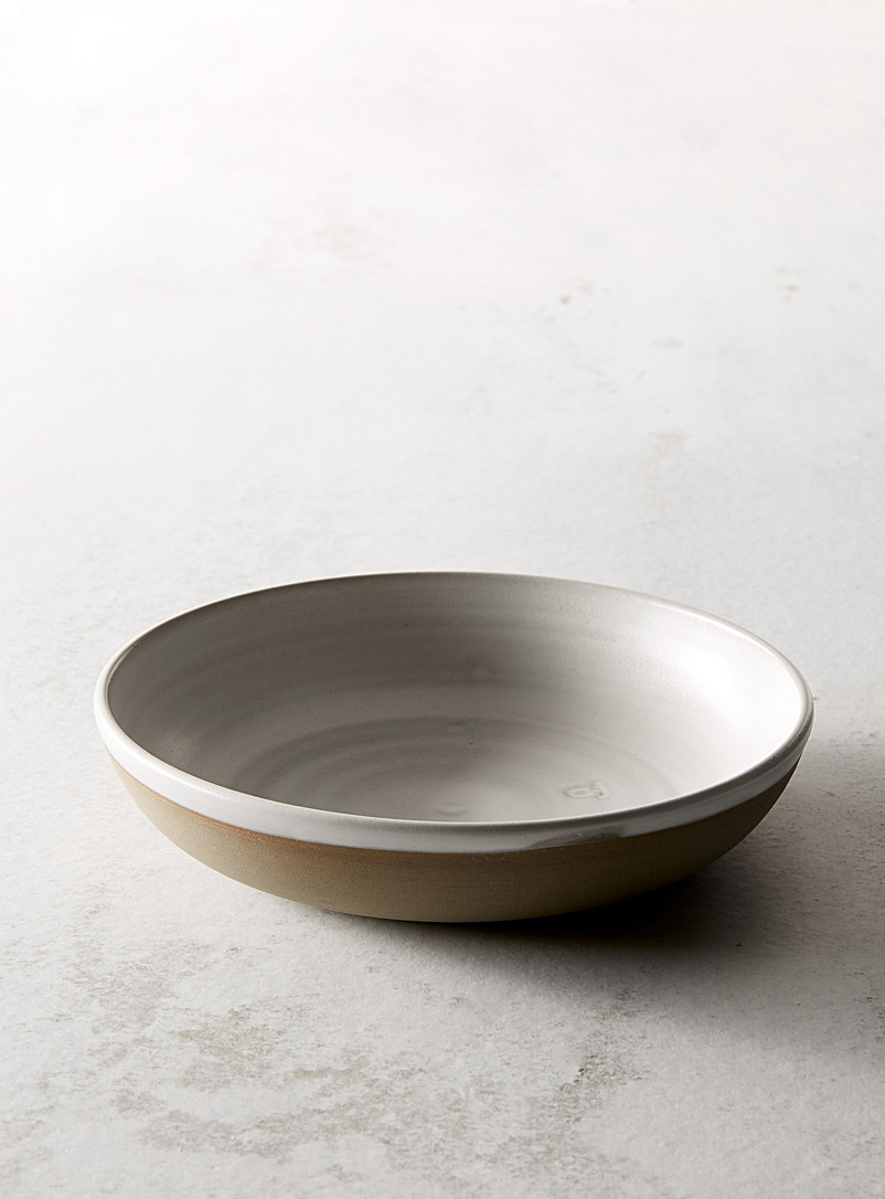 A + J Métissage Grey Ceramic dinner bowl