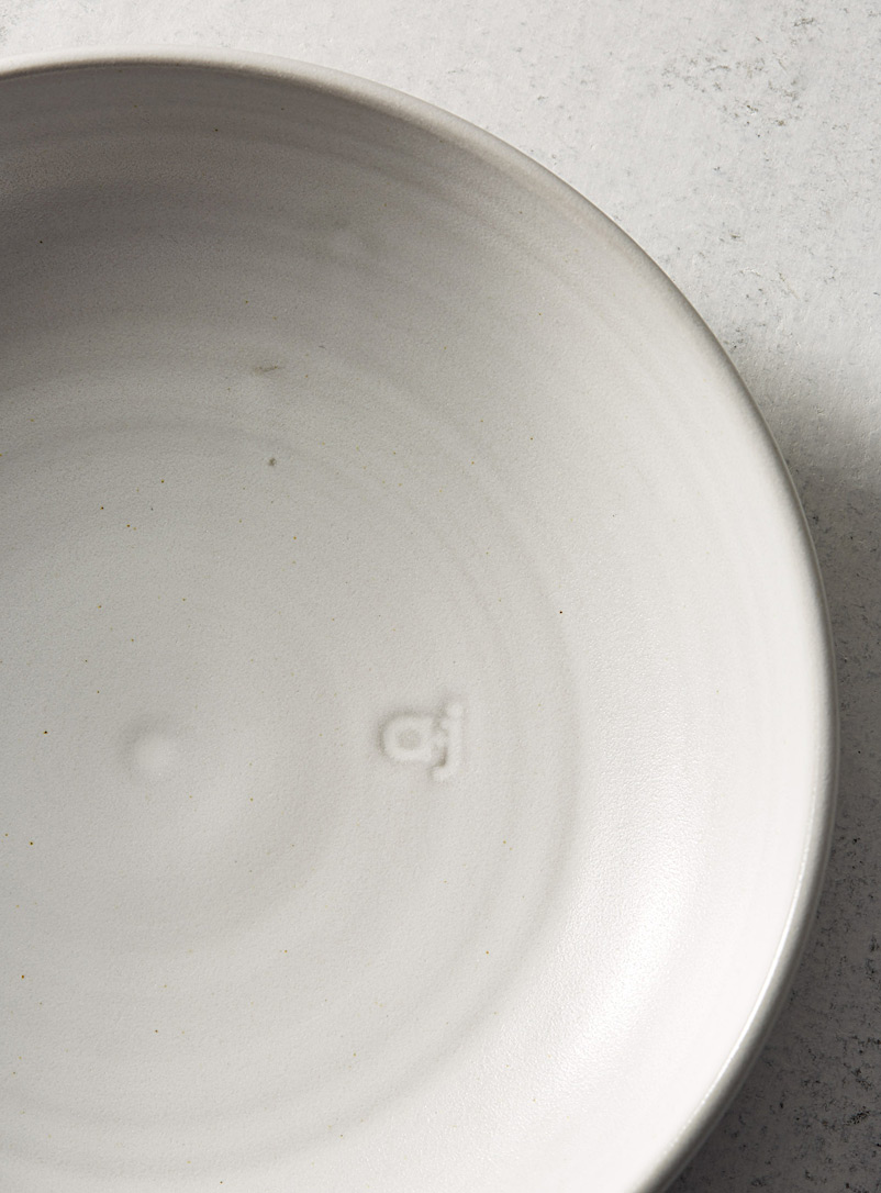 Ceramic dinner bowl - A+J Métissage - Grey