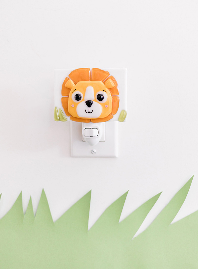 Veille sur toi Orange Marcus the lion night light