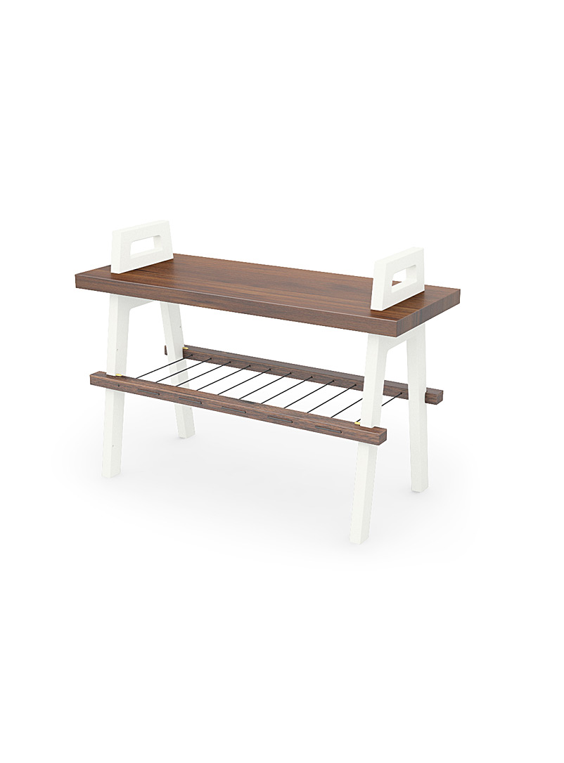 B3 entryway bench  Small size - Us & Coutumes - White