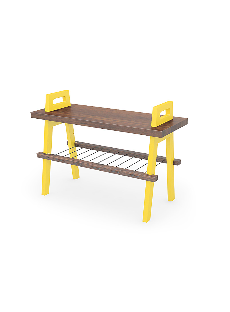 B3 entryway bench  Small size - Us & Coutumes - Medium Yellow
