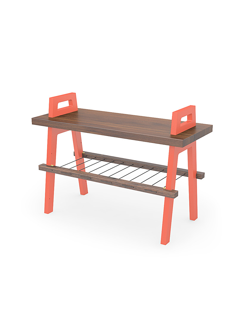Us & Coutumes Marine Blue B3 entryway bench  Small size