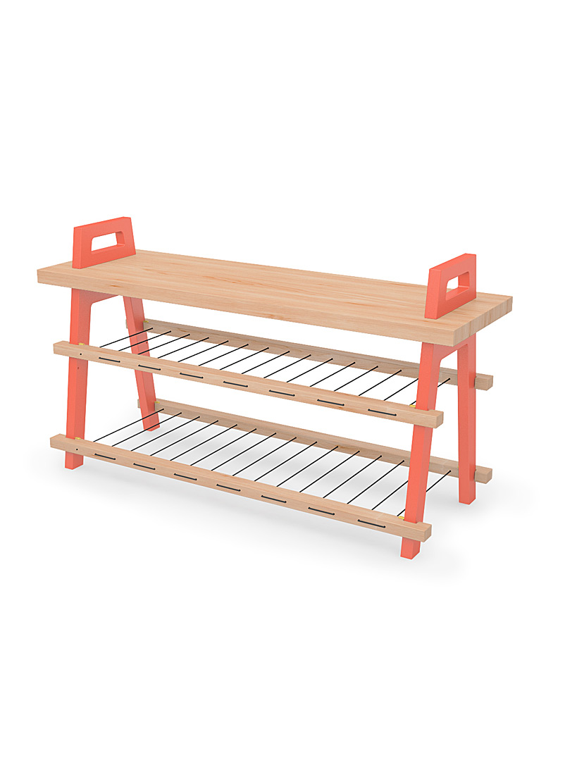 Us & Coutumes Red B3 entryway bench Large size