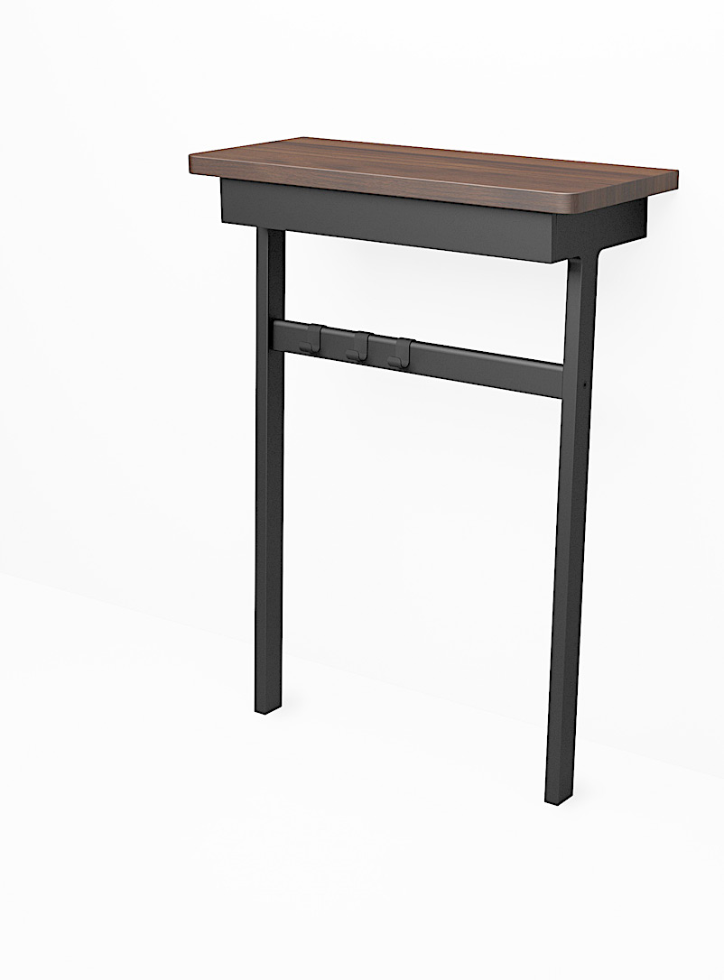 Us & Coutumes Black C6 console table with drawer