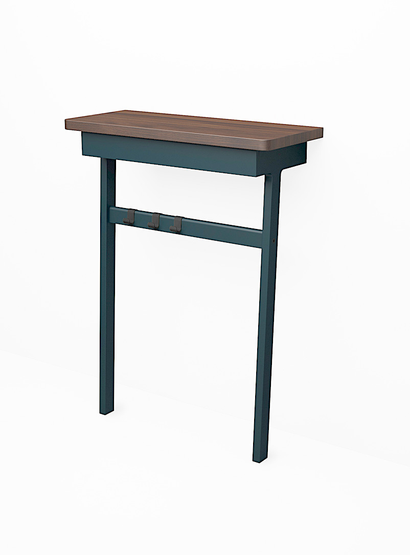 C6 console table with drawer - Us & Coutumes - Marine Blue