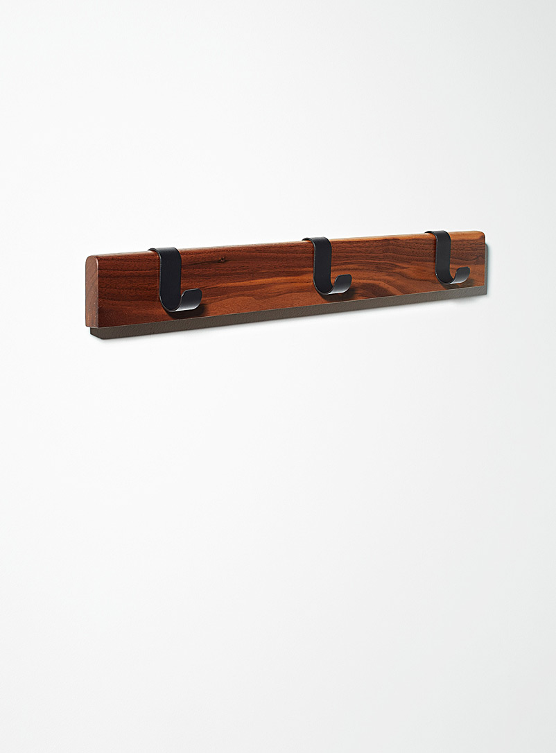 Walnut wall coat rack - Utility Accessories - Brown